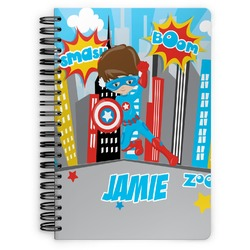 Superhero in the City Spiral Bound Notebook (Personalized)