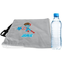 Superhero in the City Sports & Fitness Towel (Personalized)
