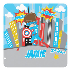 Superhero in the City Square Decal - Custom Size (Personalized)