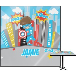 Superhero in the City Square Table Top (Personalized)