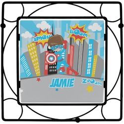Superhero in the City Square Trivet (Personalized)
