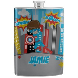 Superhero in the City Stainless Steel Flask (Personalized)