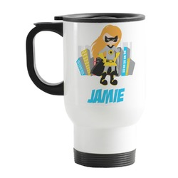Superhero in the City Stainless Steel Travel Mug with Handle
