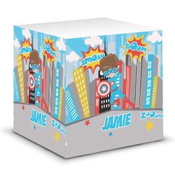 Superhero in the City Sticky Note Cube (Personalized)