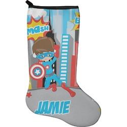 Superhero in the City Holiday Stocking - Neoprene (Personalized)
