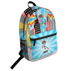 Superhero in the City Student Backpack (Personalized)