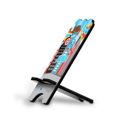 Superhero in the City Stylized Phone Stand (Personalized)