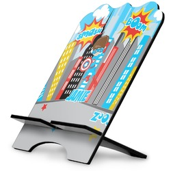 Superhero in the City Stylized Tablet Stand (Personalized)