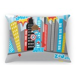 Superhero in the City Rectangular Throw Pillow Case (Personalized)