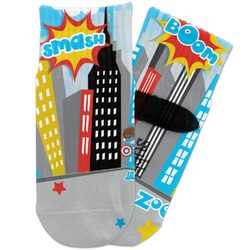 Superhero in the City Toddler Ankle Socks (Personalized)