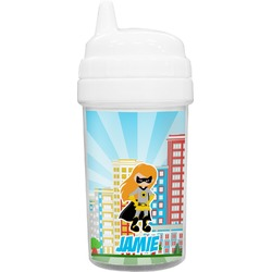 Superhero in the City Toddler Sippy Cup (Personalized)