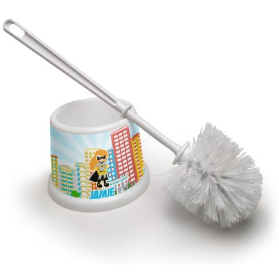 Superhero in the City Toilet Brush (Personalized)