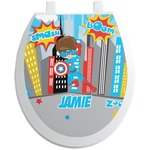 Superhero in the City Toilet Seat Decal (Personalized)