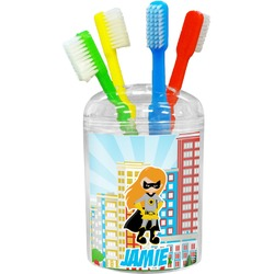Superhero in the City Toothbrush Holder (Personalized)