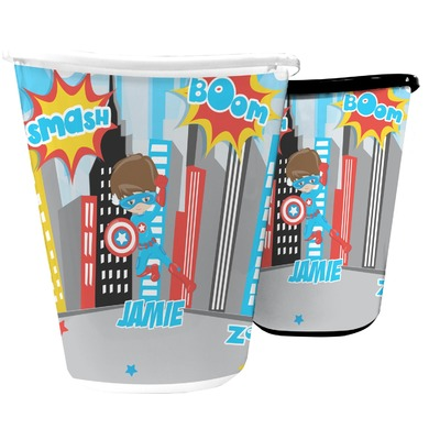 Superhero in the City Waste Basket (Personalized)