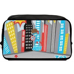 Superhero in the City Toiletry Bag / Dopp Kit (Personalized)