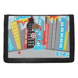 Superhero in the City Trifold Wallet (Personalized)