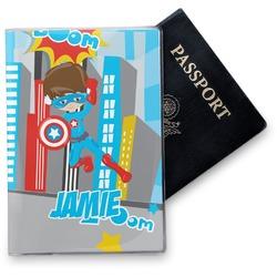 Superhero in the City Vinyl Passport Holder (Personalized)