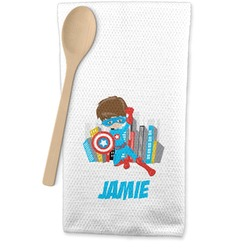 Superhero in the City Waffle Weave Kitchen Towel (Personalized)