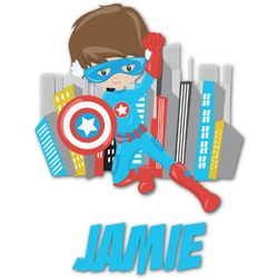 Superhero in the City Graphic Decal - Custom Sizes (Personalized)