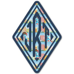 Superhero in the City Monogram Decal - Custom Sizes (Personalized)