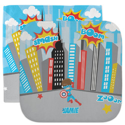 Superhero in the City Facecloth / Wash Cloth (Personalized)