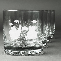 Superhero in the City Whiskey Glasses (Set of 4) (Personalized)