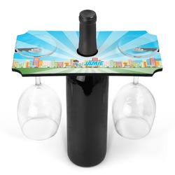 Superhero in the City Wine Bottle & Glass Holder (Personalized)