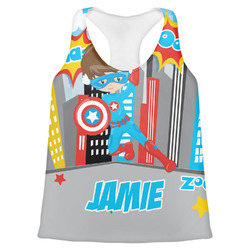 Superhero in the City Womens Racerback Tank Top (Personalized)