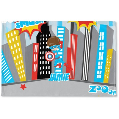 Superhero in the City Woven Mat (Personalized)