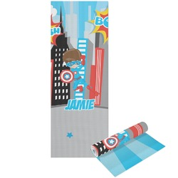 Superhero in the City Yoga Mat - Printable Front and Back (Personalized)