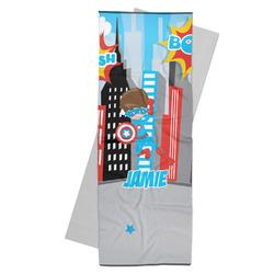 Superhero in the City Yoga Mat Towel (Personalized)