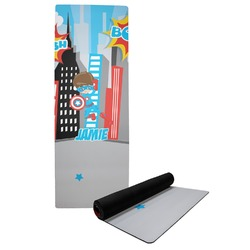 Superhero in the City Yoga Mat (Personalized)