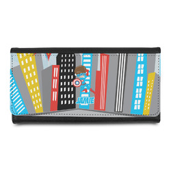Superhero in the City Leatherette Ladies Wallet (Personalized)