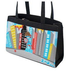 Superhero in the City Zippered Everyday Tote (Personalized)