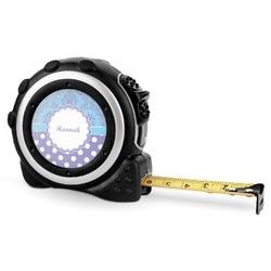 Purple Damask & Dots Tape Measure - 16 Ft (Personalized)