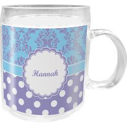Purple Damask & Dots Acrylic Kids Mug (Personalized)