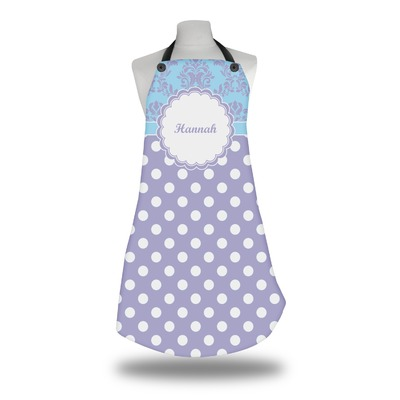 Purple Damask & Dots Apron (Personalized)