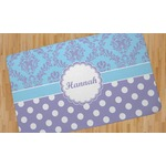 Purple Damask & Dots Area Rug (Personalized)