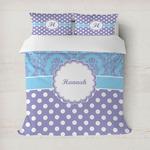 Purple Damask & Dots Duvet Covers (Personalized)