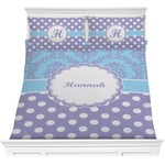 Purple Damask & Dots Comforter Set (Personalized)