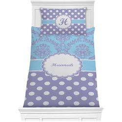 Purple Damask & Dots Comforter Set - Twin (Personalized)