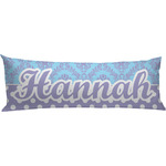 Purple Damask & Dots Body Pillow Case (Personalized)