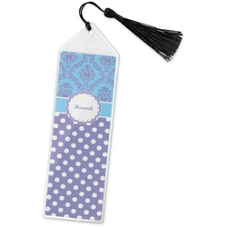 Purple Damask & Dots Book Mark w/Tassel (Personalized)