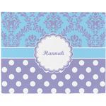 Purple Damask & Dots Placemat (Fabric) (Personalized)