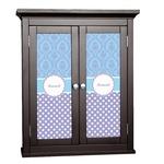 Purple Damask & Dots Cabinet Decal - Custom Size (Personalized)