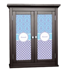 Purple Damask & Dots Cabinet Decal - Custom Size (Personalized)