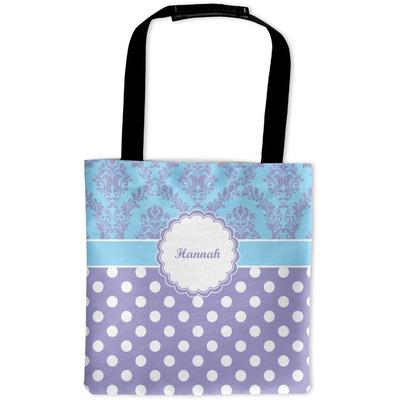 Purple Damask & Dots Auto Back Seat Organizer Bag (Personalized)