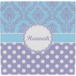 Purple Damask & Dots Ceramic Tile Hot Pad (Personalized)