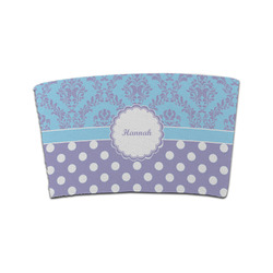Purple Damask & Dots Coffee Cup Sleeve (Personalized)